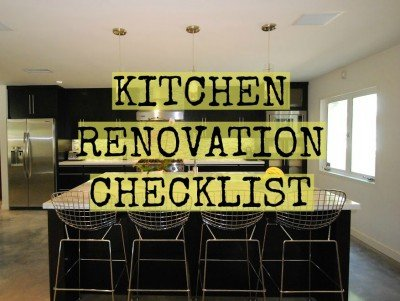 Your Kitchen Renovation Checklist